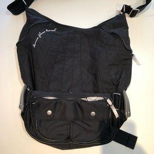 Large Lululemon crossbody nylon bag. Black